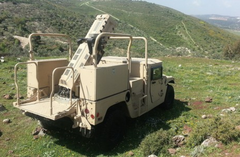 The Spear mortar-firing system, produced by Elbit Systems, can be installed on light combat vehicles. (photo credit: ELBIT)