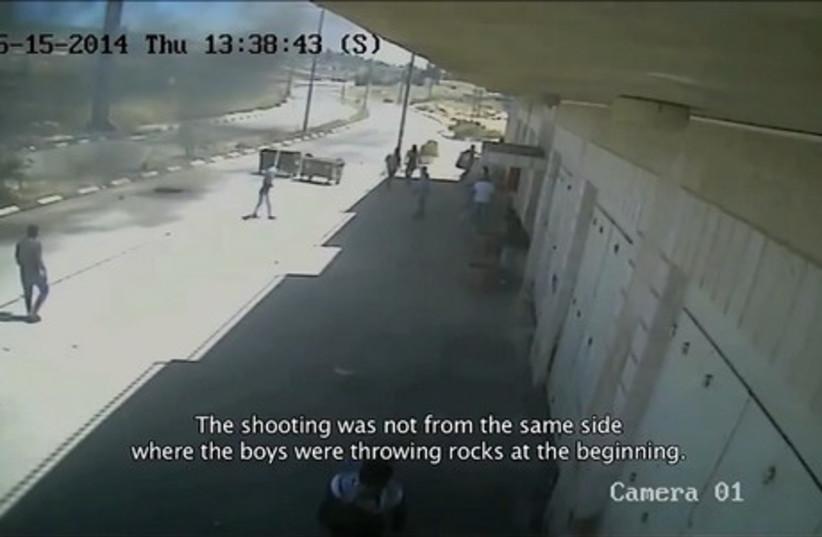 Footage of the killing of two Palestinian teens by IDF troops near Ramallah last week. (photo credit: YOUTUBE SCREENSHOT)