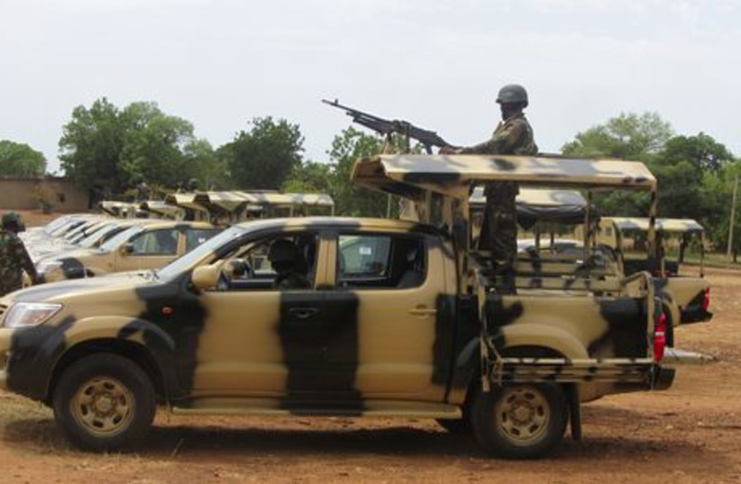 Nigerian soldiers sent to fight Boko Haram Islamists, May 22, 2013 (photo credit: REUTERS)