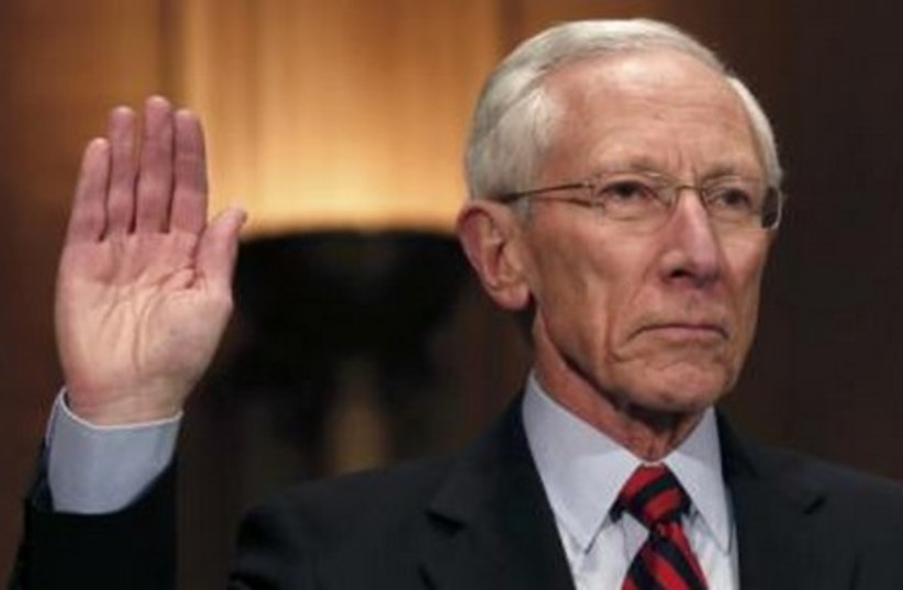 Former Bank of Israel director Stanley Fischer at a hearing on his nomination to be a member and vice chairman of the Federal Reserve Board of Governors in Washington March 13, 2014. (photo credit: REUTERS)
