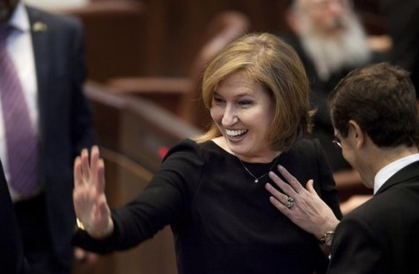 Justice Minister Tzipi Livni  (photo credit: REUTERS)