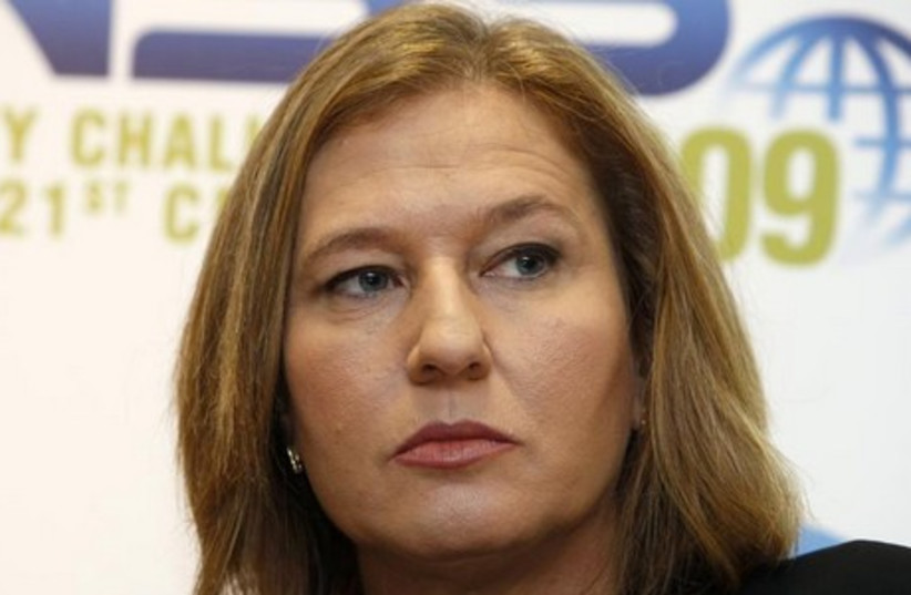 Justice Minister Tzipi Livni  (photo credit: REUTERS)