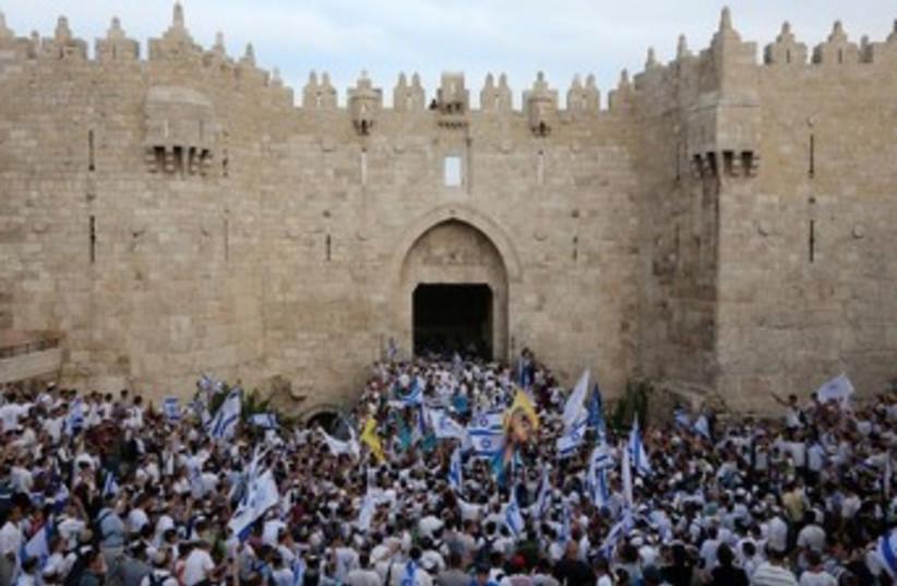 Thousands celebrate Jerusalem Day (photo credit: MARC ISRAEL SELLEM/THE JERUSALEM POST)