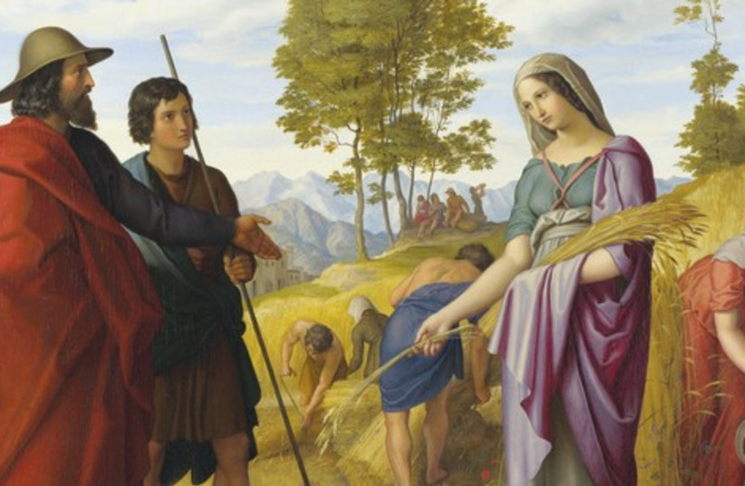 A PAINTING titled 'Ruth in Boaz's field,' which hangs in the National Gallery, London. (photo credit: Wikimedia Commons)