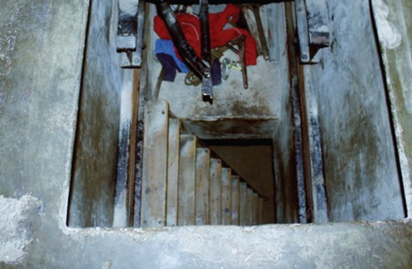 THE HIDDEN entrance to the 'slik,' looking down. (photo credit: RUTH CORMAN)