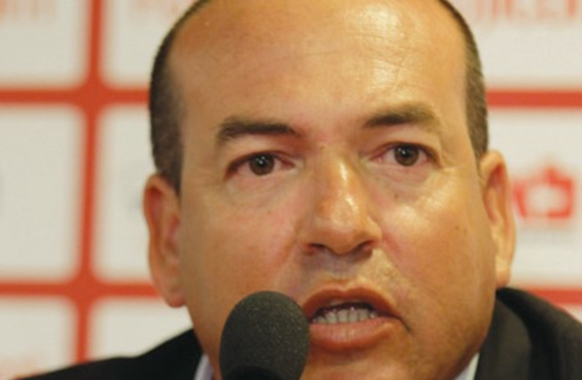 Eyal Berkovic was unveiled as Hapoel Tel Aviv's new manager yesterday and promised he would lead the club to success as long as he will be given time. (photo credit: ASAF KLIGER)
