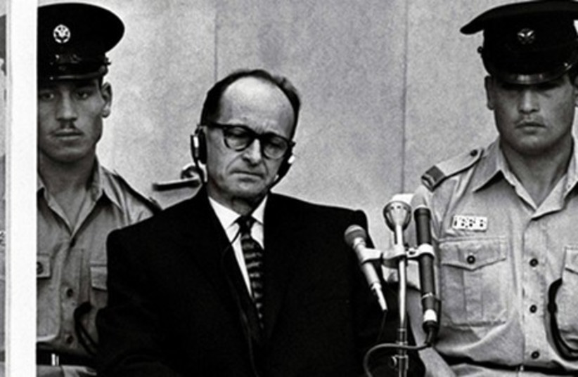 Adolf Eichmann during his trial in Jerusalem. (photo credit: REUTERS)