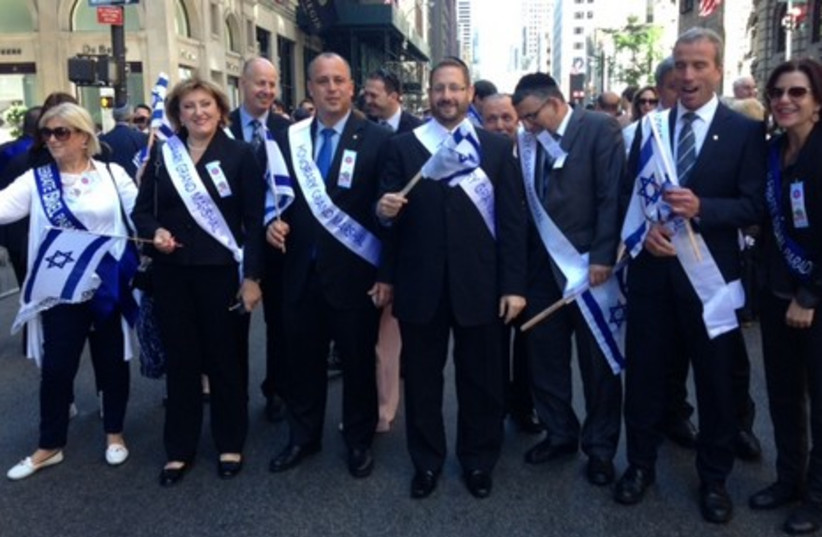 Knesset delegation to the annual Celebrate Israel Parade in New York. (photo credit: Courtesy)