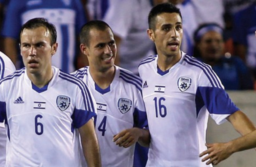 Israel take a victory over Honduras in a friendly in Houston, June 1, 2014.  (photo credit: USA TODAY)