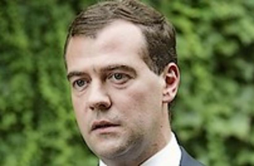 Medvedev stern 224.88 (photo credit: AP)