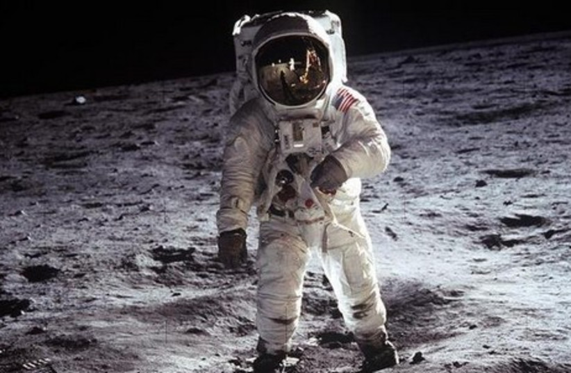 Man on moon [Illustrative] (photo credit: REUTERS)