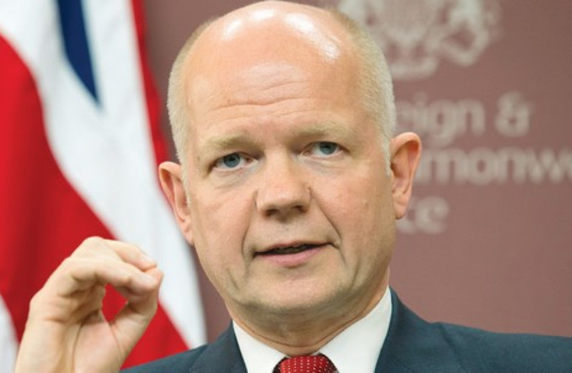 UK FOREIGN SECRETARY William Hague (photo credit: REUTERS)
