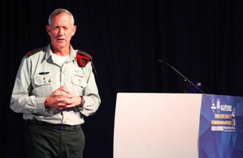 IDF chief Benny Gantz speaks at Herzliya Conference, June 9, 2014 (photo credit: EREZ HARODI - OSIM TSILUM)