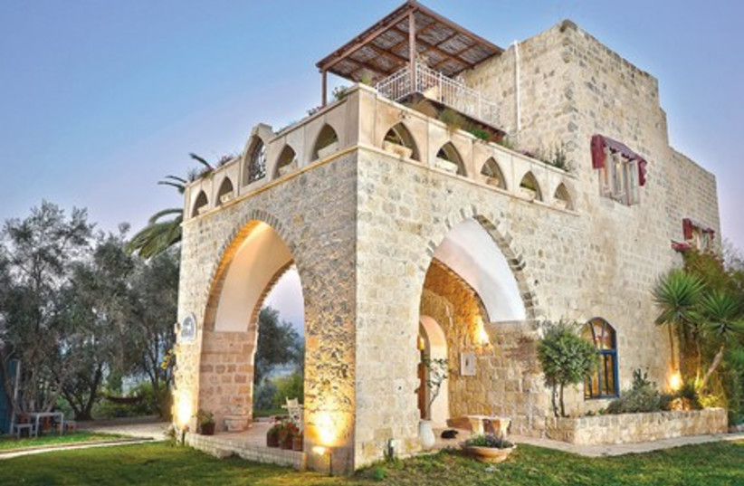 Our tour of Airbnb in Israel continues with a visit to a medieval suite (photo credit: JERUSALEM POST)