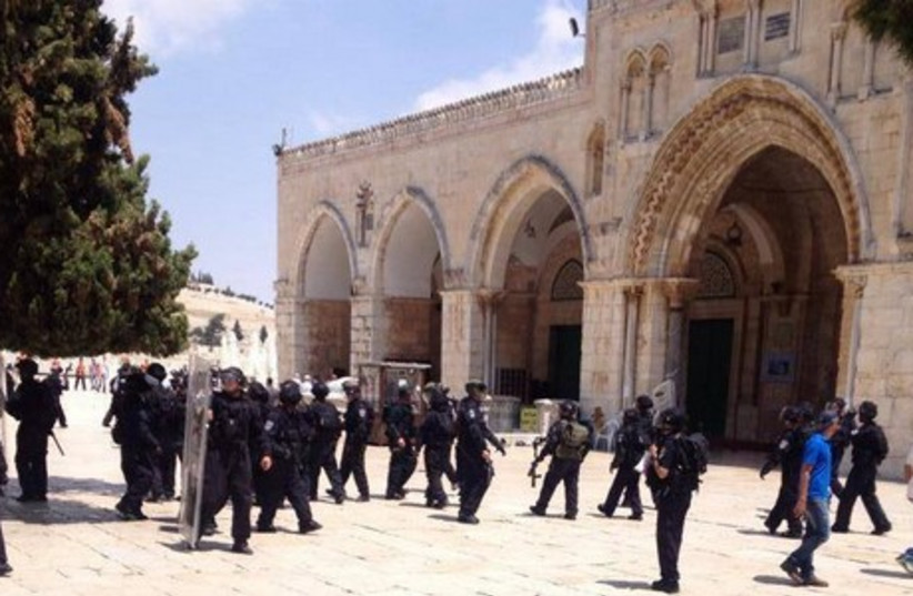 Temple Mount riots, June 13 (photo credit: PALESTINIAN MEDIA)