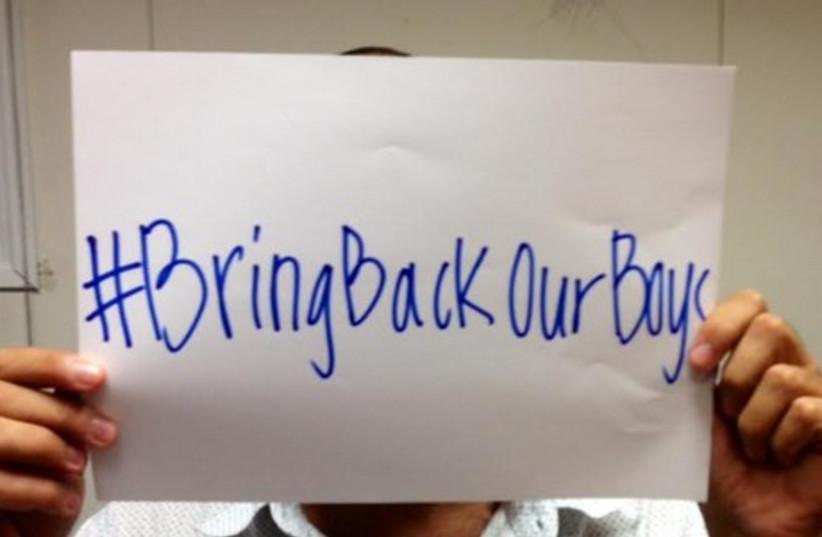 #BringBackOurBoys (photo credit: Courtesy)