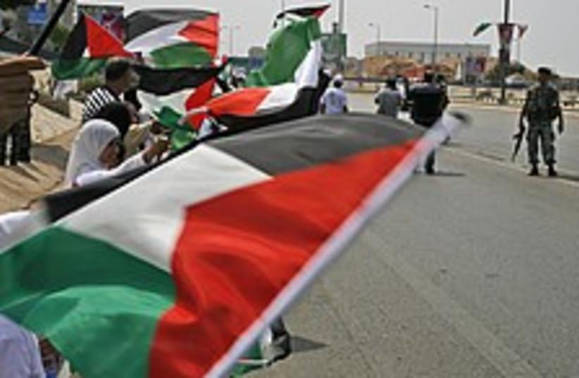 palestinian flags lebanon 224  (photo credit: AP)