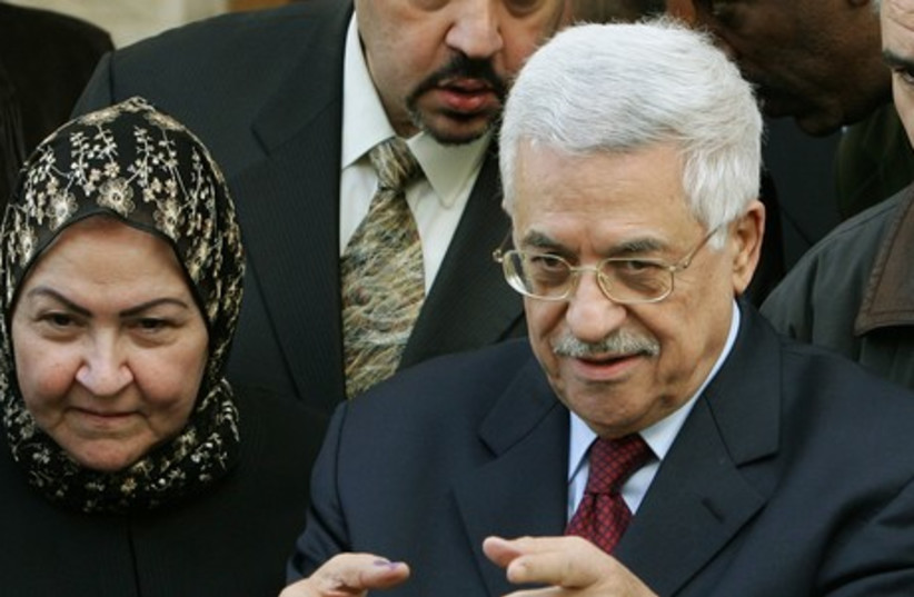 Mahmoud Abbas and his wife Amina (photo credit: REUTERS)