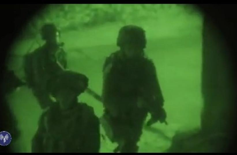 IDF troops operating near Nablus. (photo credit: IDF SPOKESMAN'S OFFICE)