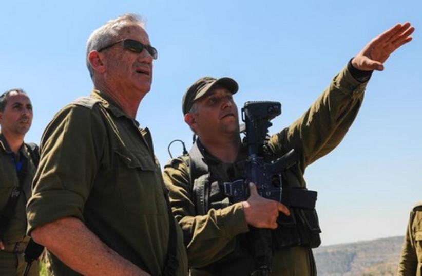 IDF Chief of Staff Lt.-Gen. Benny Gantz, June 24, 2014. (photo credit: IDF SPOKESMAN'S OFFICE)