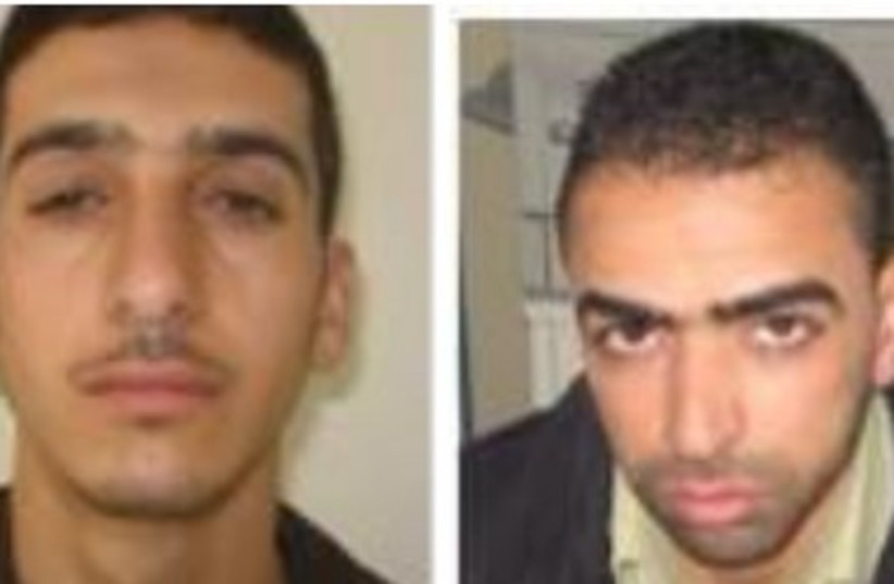 Kidnapping suspects: Marwan Quasma and Amar Abu Eisha (photo credit: IDF SPOKESMAN'S OFFICE)