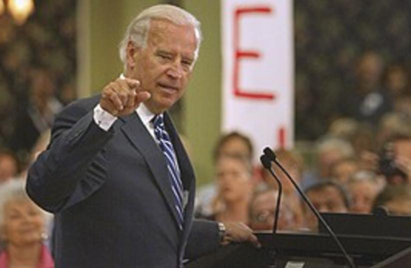 Biden stresses point 298 (photo credit: AP)