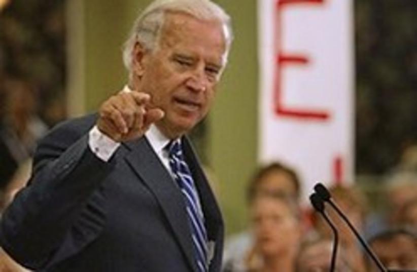 Biden stresses point 248.88 (photo credit: AP [file])