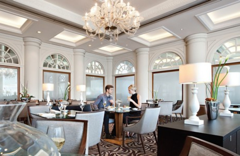 Aubergine, the kosher restaurant at the David Intercontinental Hotel, is a heady experience (photo credit: Courtesy)