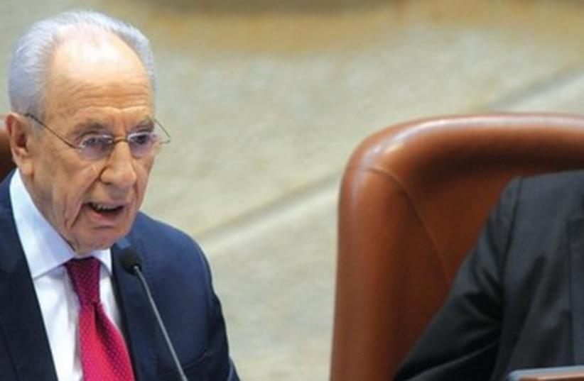 Former president Shimon Peres. (photo credit: GPO/AMOS BEN GERSHOM)