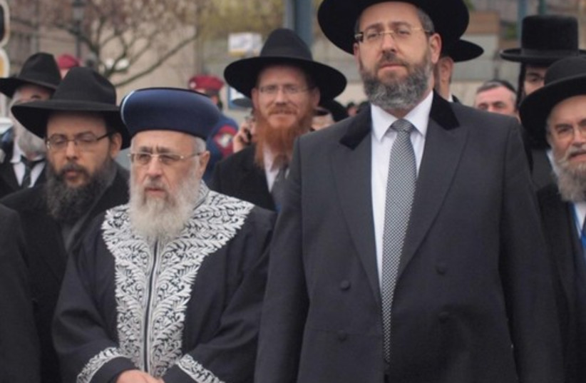 Chief rabbis in Budapest (photo credit: SAM SOKOL)