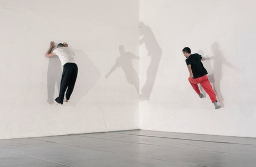 """Dancer-choreographers Inbal Pinto and Avshalom Pollak will unveil their new work, Perahkir (""""Wallflower""""), at the Tel Aviv Museum's sculpture gallery Tuesday. (photo credit: Courtesy)"""