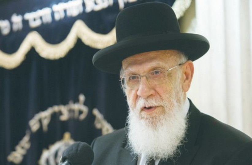 RABBI SHALOM COHEN, the spiritual leader of the haredi Shas movement, condemns the murder in severe terms. (photo credit: YONATHAN SINDEL / FLASH 90)