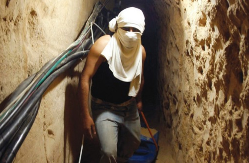 A Palestinian tunnel in Gaza.  (photo credit: REUTERS)
