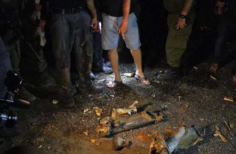 Rocket fired from Lebanon into northern Israel (photo credit: SHAI VAKNIN/TAZPIT)