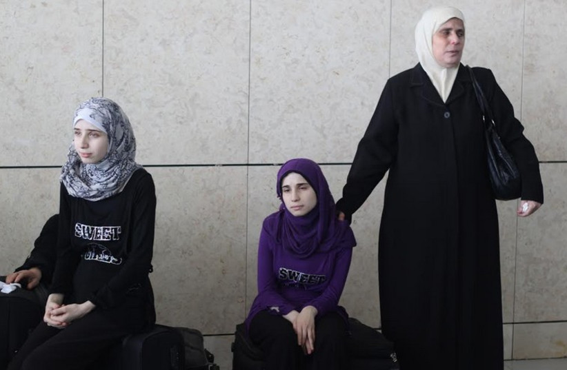Palestinian holders of foreign citizenship are seen at Erez Crossing. (photo credit: BEN HARTMAN)
