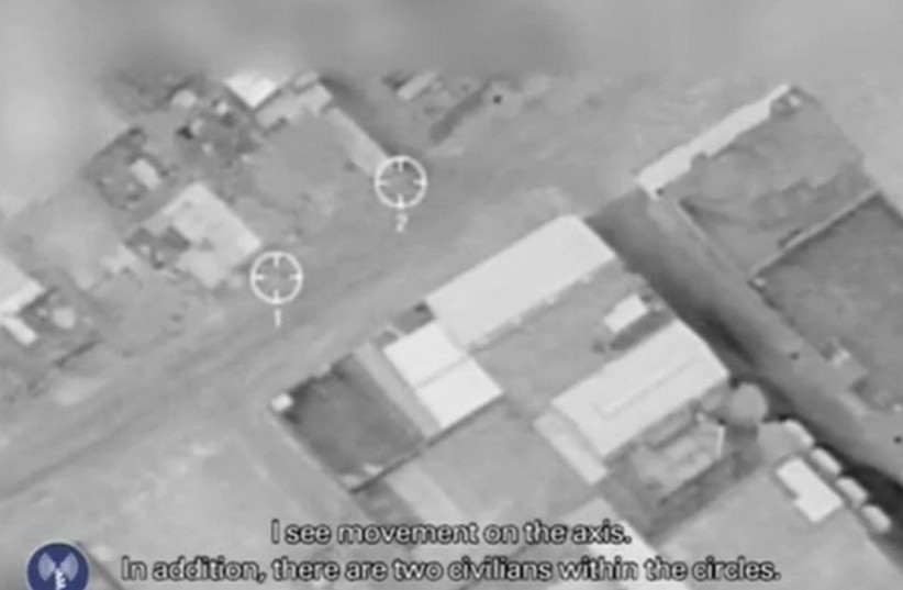 IDF releases footage its says shows aerial strikes aborted in Gaza to prevent civilian casualties. (photo credit: screenshot)