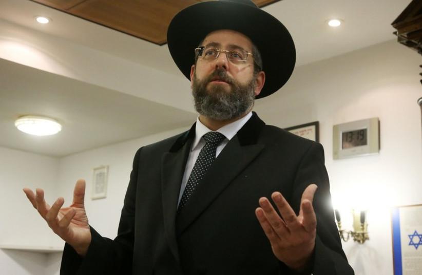 Chief rabbi David Lau (photo credit: MARC ISRAEL SELLEM/THE JERUSALEM POST)