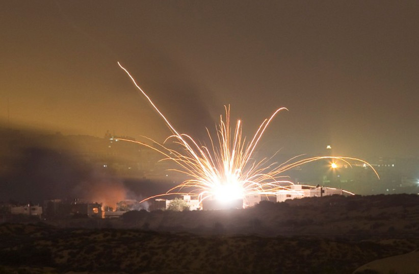 An Israeli rocket is fired into the northern Gaza Strip July 17, 2014. (photo credit: REUTERS)