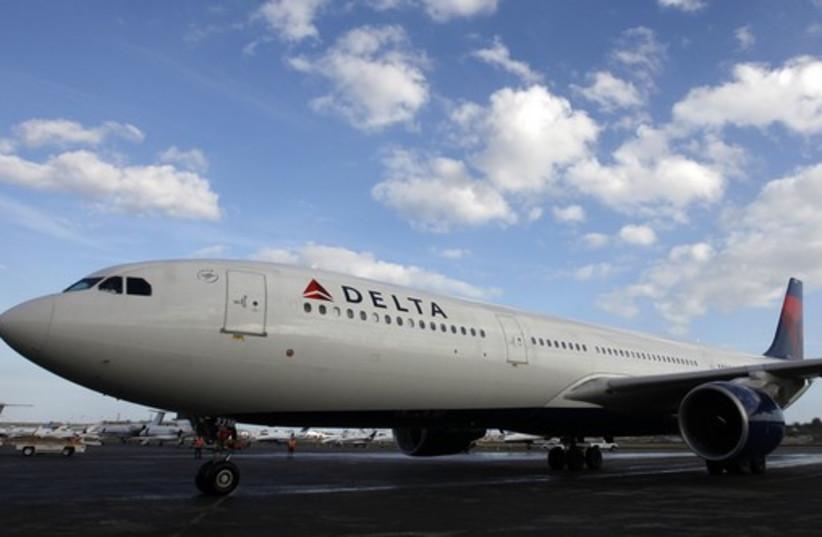 Delta airline plane (photo credit: REUTERS)