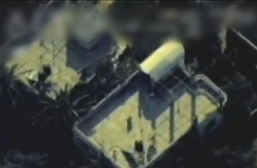 Israeli Air Force targets Gaza target (photo credit: screenshot)