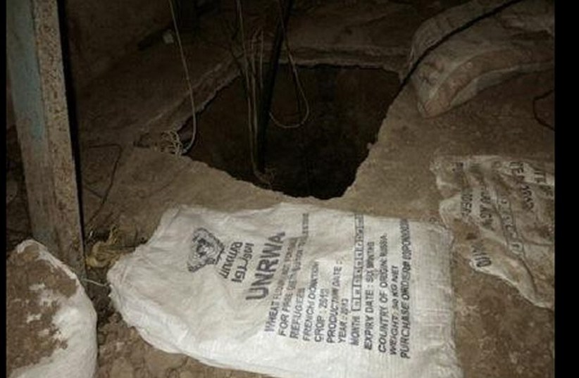 Tunnel uncovered by IDF in Gaza , July 23 (photo credit: IDF SPOKESMAN'S OFFICE)