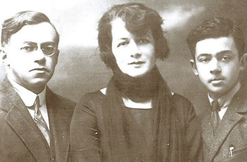 Ze'ev Jabotinsky with his wife and son Eri. (photo credit: Wikimedia Commons)