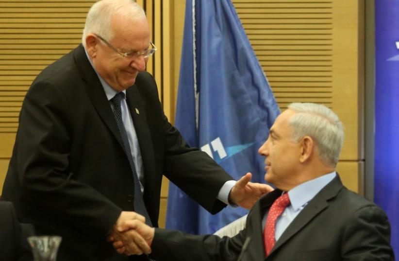 Pm Netanyahu and Reuven Rivlin (photo credit: MARC ISRAEL SELLEM/THE JERUSALEM POST)