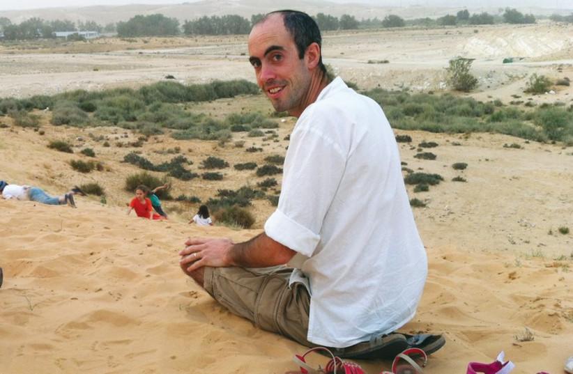 SHMUEL ADLER at his home community in the Negev named Shezaf, which is south of Beersheba. (photo credit: STEVE ADLER)