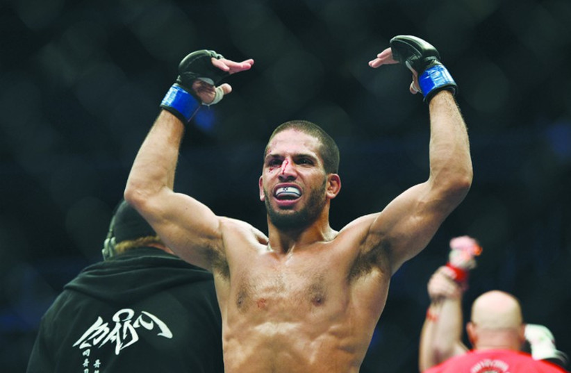 Noad Lahat impressed in his UFC featherweight bout against Steven Siler on Saturday in San Jose (photo credit: REUTERS)