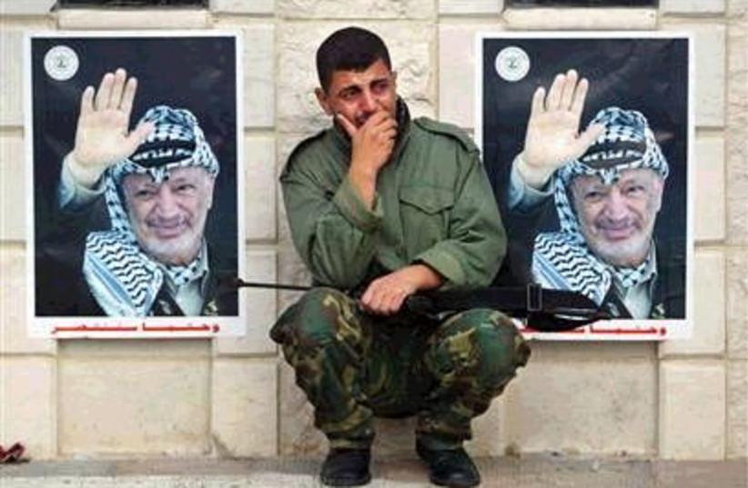 police mourns arafat 298 (photo credit: AP [File])