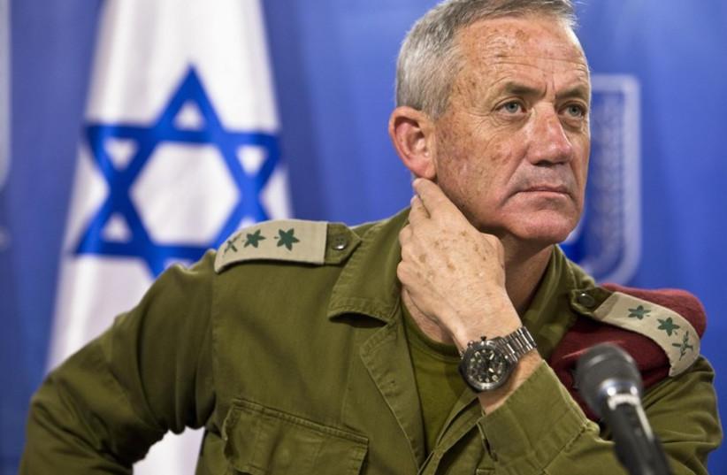 IDF Chief of Staff Lt.-Gen. Benny Gantz (photo credit: REUTERS)