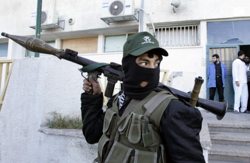 An Islamic jihad terrorist (photo credit: REUTERS)