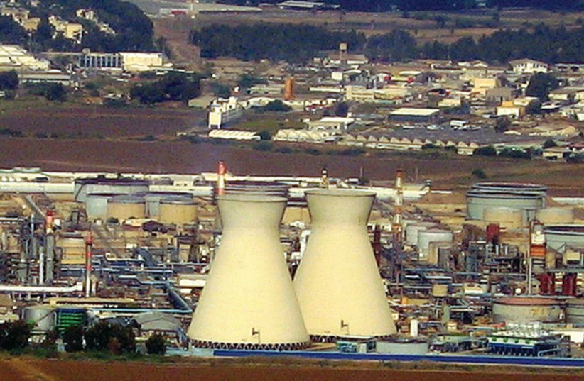 Beit Hazikuk in Haifa is the country's largest oil refinery. (photo credit: Wikimedia Commons)