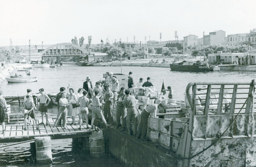 Jewish volunteers sending supplies to the 'Exodus' in 1947. (photo credit: Courtesy)
